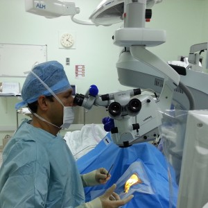 Mr Sid Goel in the operating theatre
